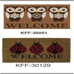 Fashion coir PVC Coir  mat Stock