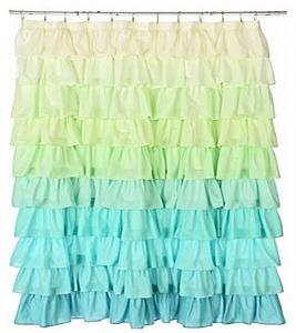 frilled curtain