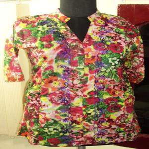 Printed Ladies Top Stock