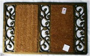 ET-396- FANCY COLOR COIR BRUSH RUBBER GRILL MAT STOCK