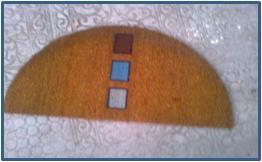 Flocked print Coir Mats Stock -Half Moon Shapes