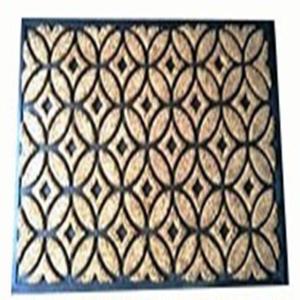 Coir Brush Rubber Mat