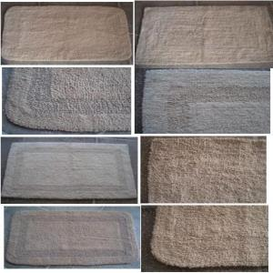 Natural reversible bath rugs