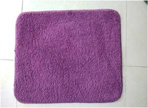 Solid/plains Micro Bathmat  Rubber Backing Stock