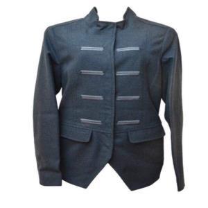 Ladies Raymond wool blazer with stitch line details and metallic buttons