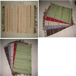 Solid Stripes Chindi Rug