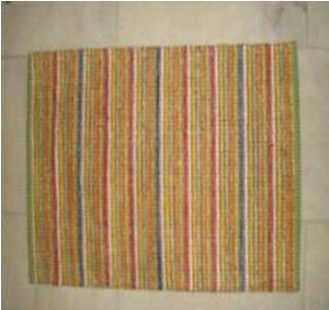 Rayon Chenille Stripe Rug