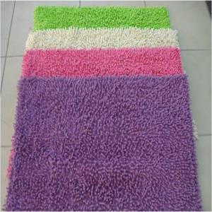 Cotton chenille shaggy bathmat