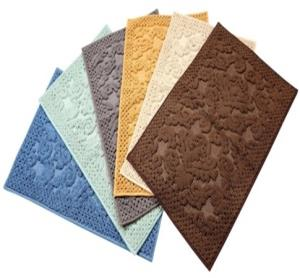 Jacquard Bathrugs with anti skid Rubber Backing