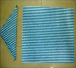 100% Cotton Yarn Dyed Place  Fused MatNapkin Set Stock
