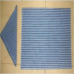 100% Cotton Yarn Dyed Place  Fused MatNapkin Set Stock