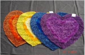 Polyester Shaggy Heart Rugs