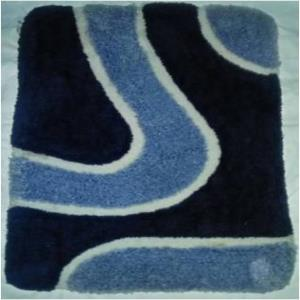 Micro polyester design bathmat with white canvas Stock