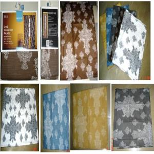 Cotton Textured Weave Printed Curtains
