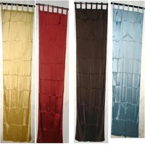 Polyester Seer Sucker Voile Loop Curtains