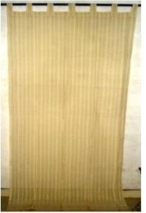 Cotton Linen Stripes Ribbed Weave Curtains
