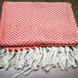 Chevron & Plaid Design Cotton Throws
